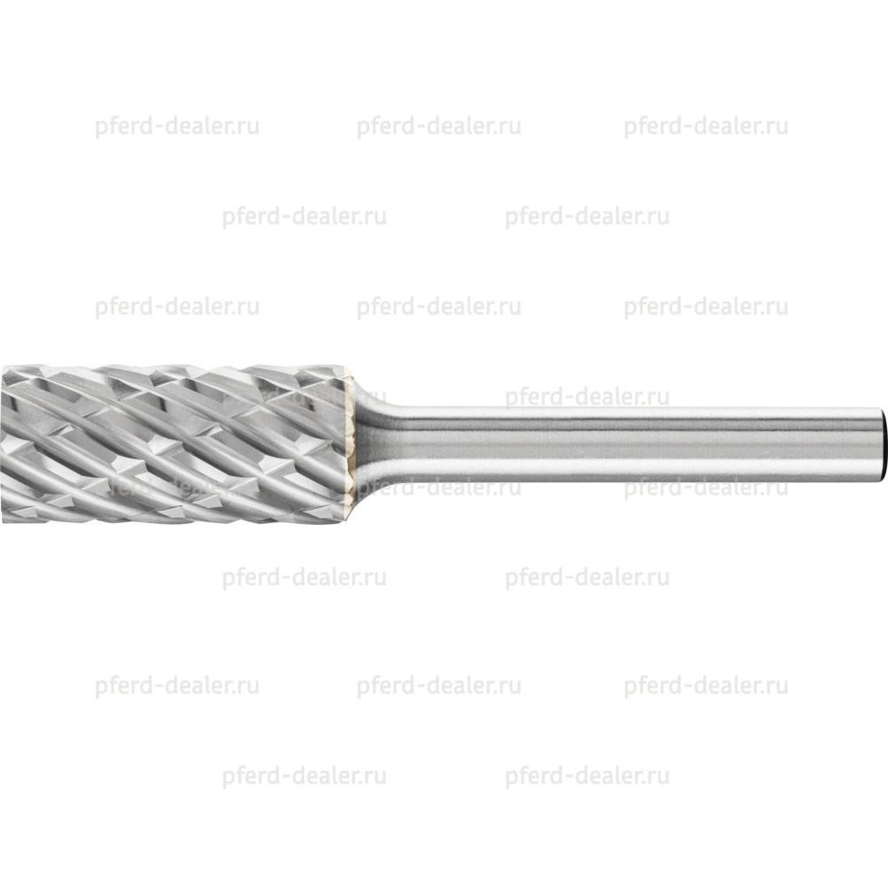 Борфреза твердосплавная STEEL, форма ZYA, цилиндр с гладким торцом-img