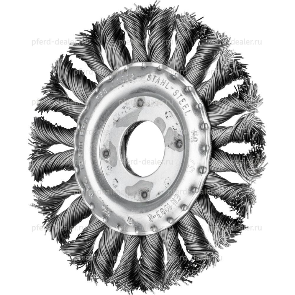 Щетка дисковая плетенная RBG CT-img