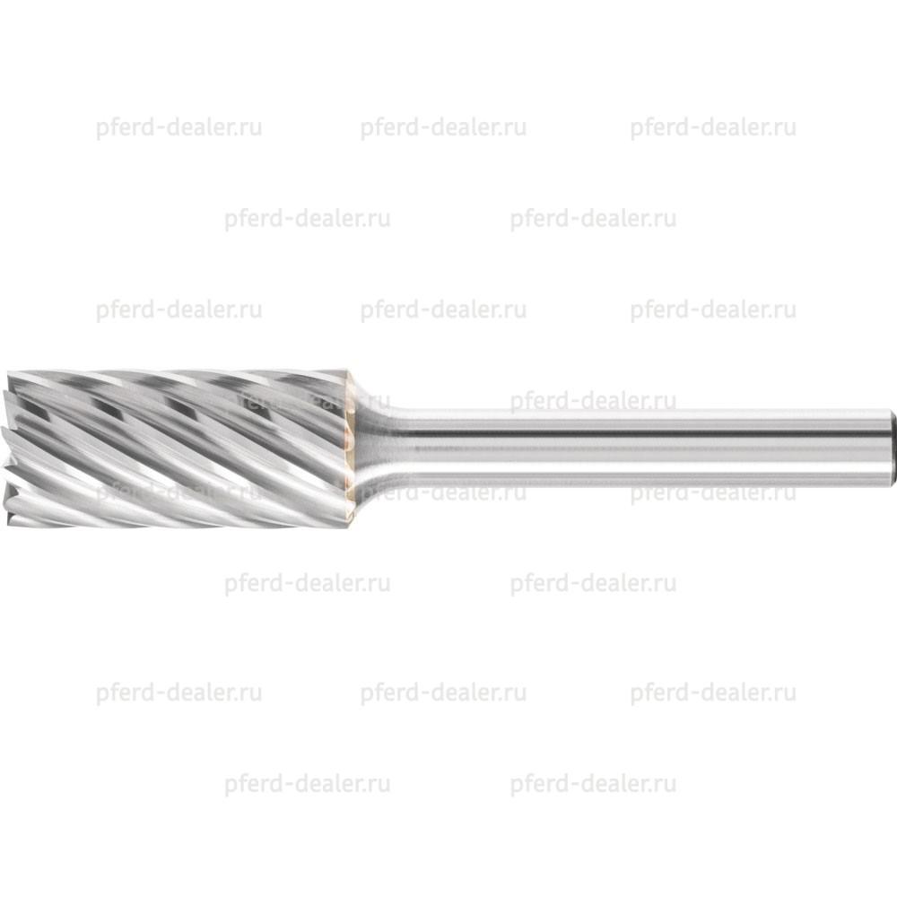 Борфреза твердосплавная INOX, форма ZYAS, цилиндр с торцовыми зубьями-img