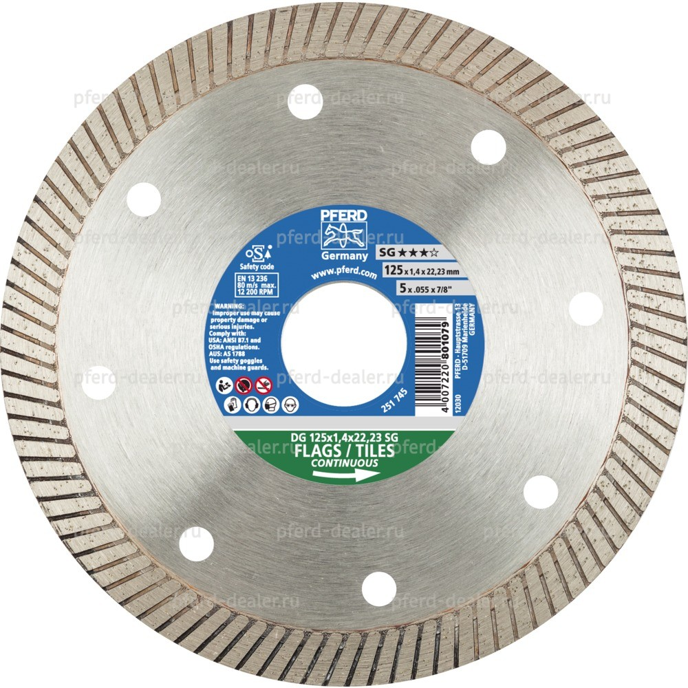 Алмазный отрезной круг DG FL SG-img