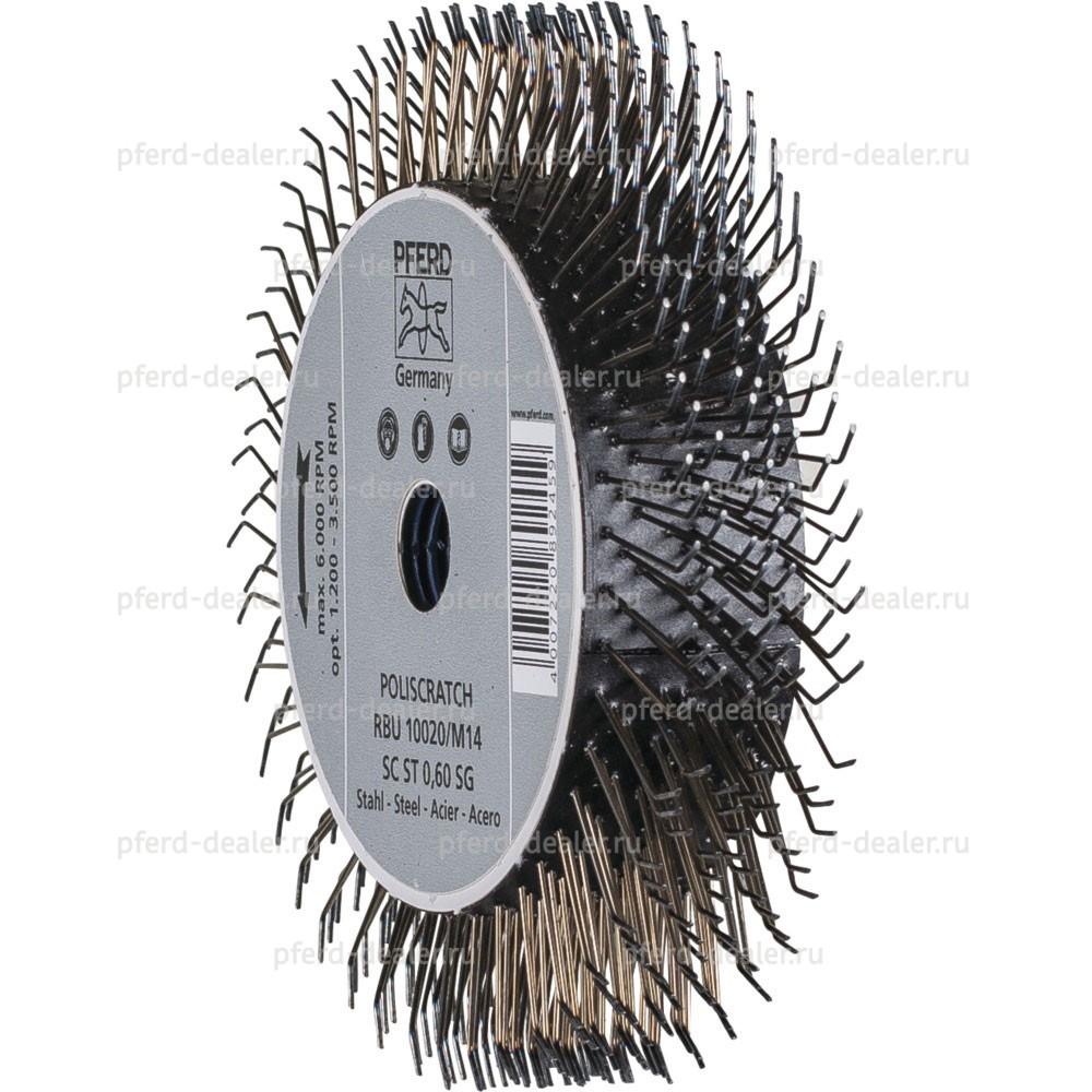 Щетка дисковая неплетенная RBU POLISCRATCH-img