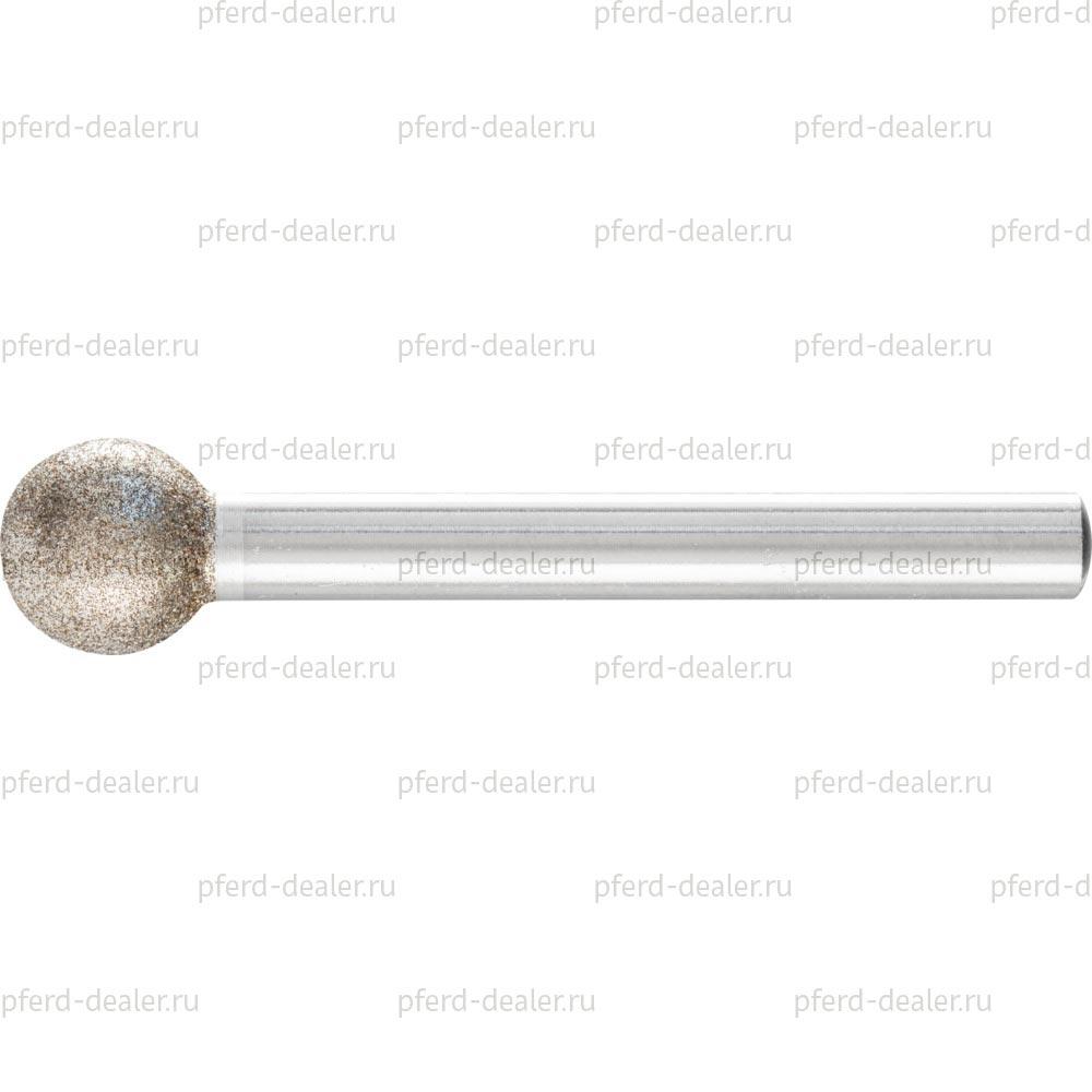 Головка шлифовальная с кубическим нитридом бора CBN, форма KU, сферическая-img