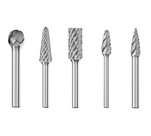 Борфрезы твердосплавные для обработки алюминия, пластика и цветных металлов